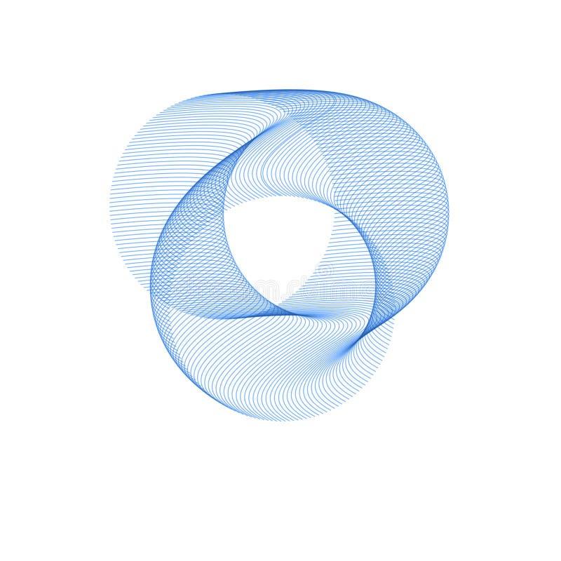 Círculo abstracto azul Fondo redondo abstracto Plantilla para la red social, zavstka, postal, haciendo publicidad stock de ilustración