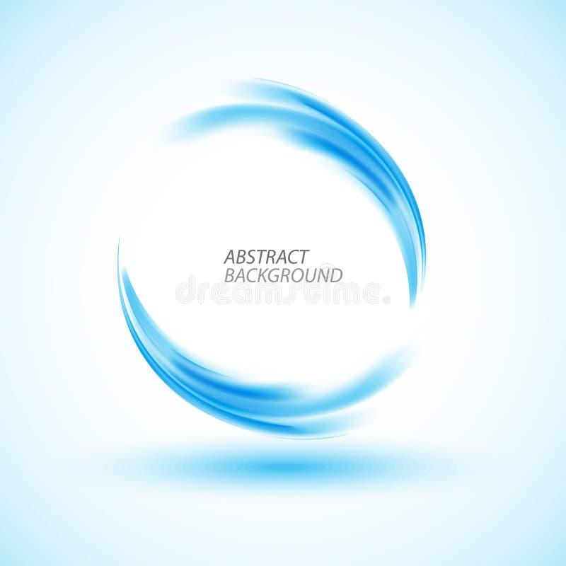 Círculo abstracto del azul de la energía del remolino stock de ilustración