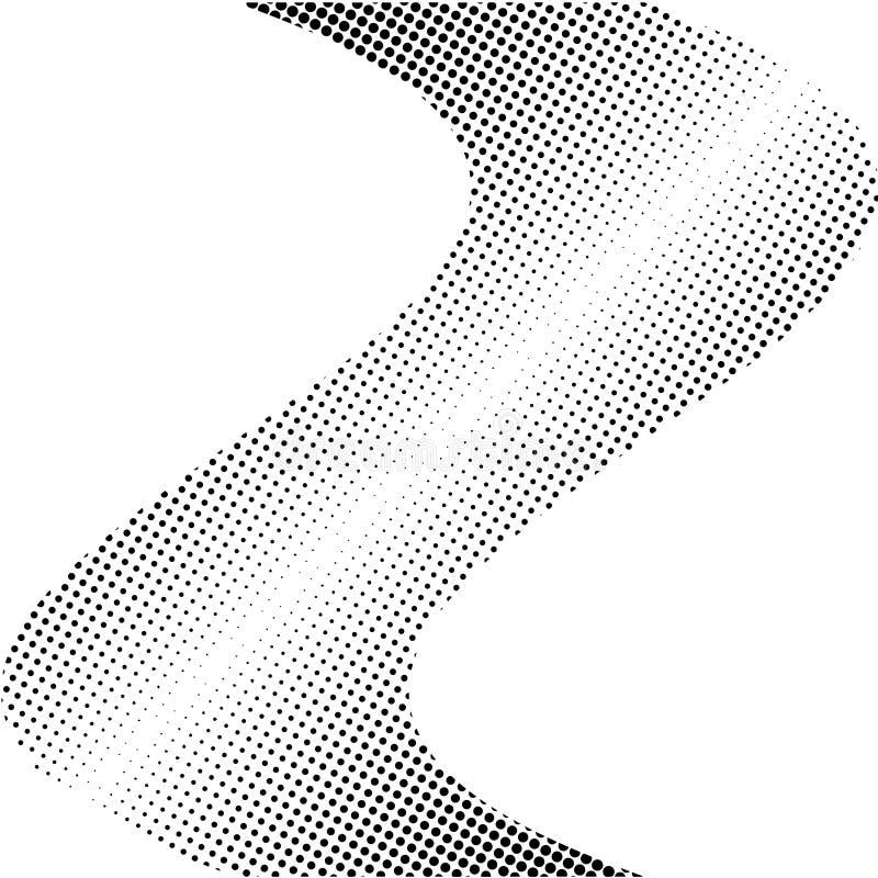 Círculo abstracto Logo Design, textura de semitono del modelo Vector el fondo futurista moderno para los carteles, tarjetas de vi stock de ilustración