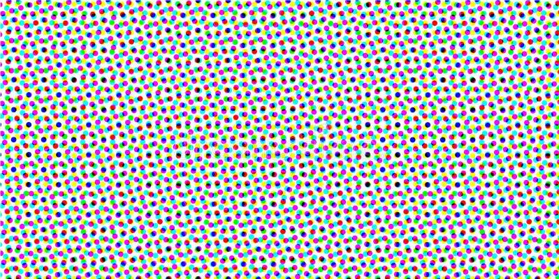 Círculo abstracto Logo Design, textura de semitono del modelo Vector el fondo futurista moderno para los carteles, tarjetas de vi libre illustration