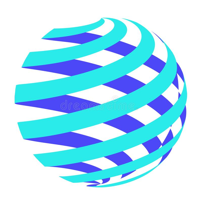 Círculo abstracto Logo Design Vector fotos de archivo