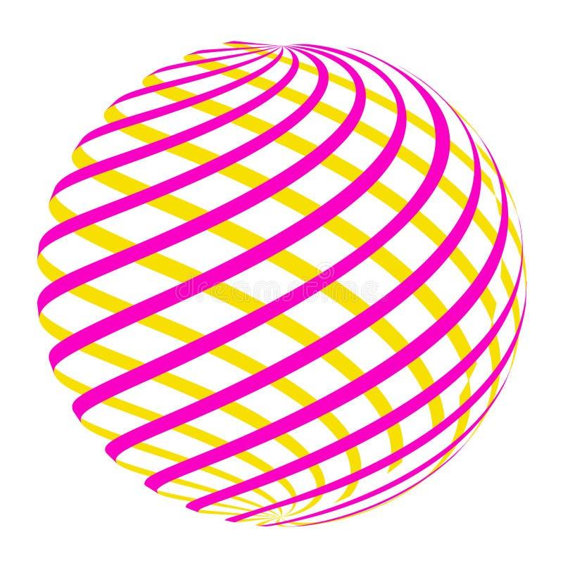 Círculo abstracto Logo Design Vector fotografía de archivo libre de regalías