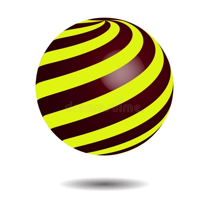 Círculo abstracto Logo Design, vector del espiral del globo 3D Logotipo del círculo con la sombra ilustración del vector