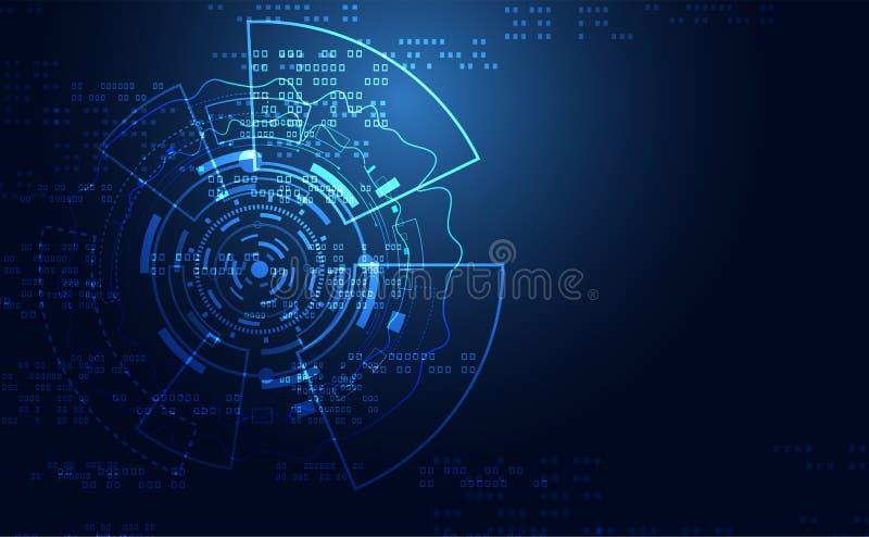 Círculo abstracto moderno de la comunicación del concepto de la tecnología digital ilustración del vector