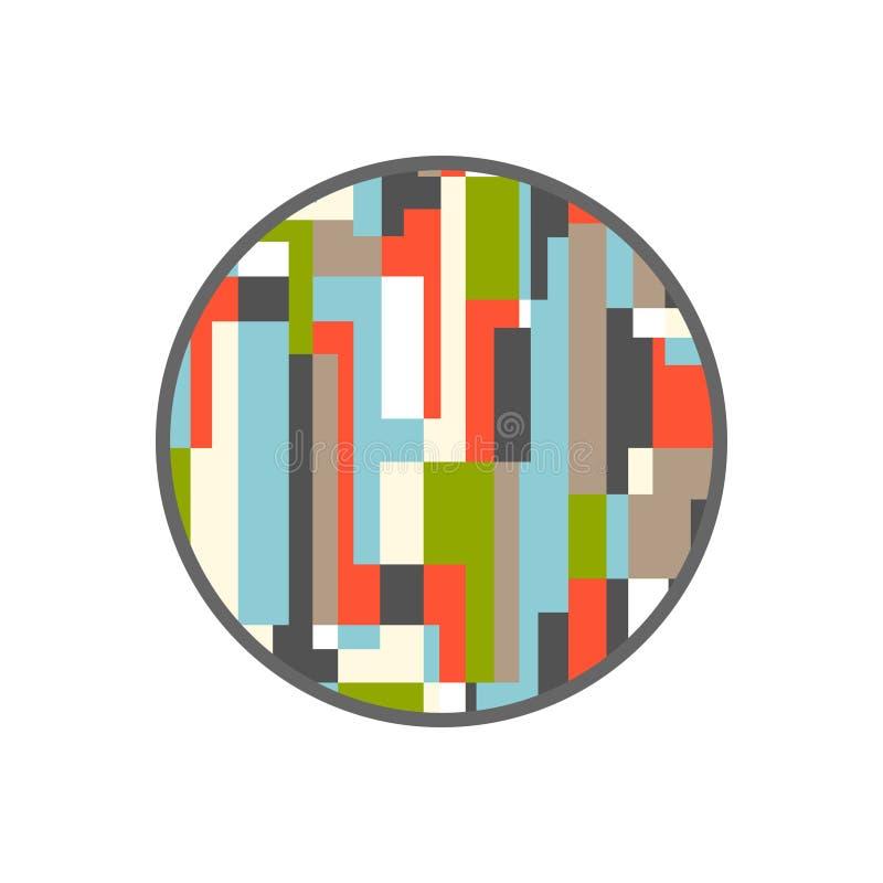 Círculo abstrato retangular Projeto do vetor ilustração do vetor