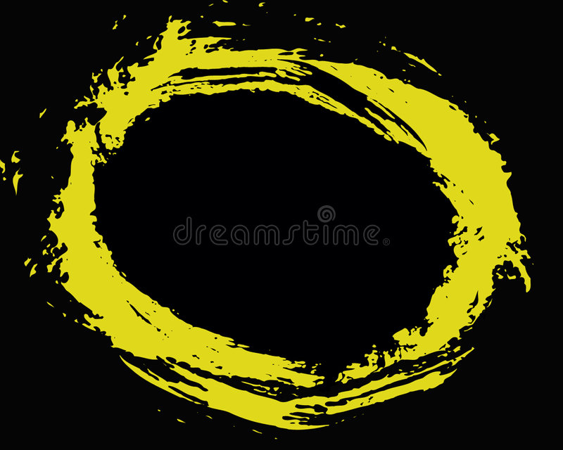 Círculo amarelo ilustração royalty free