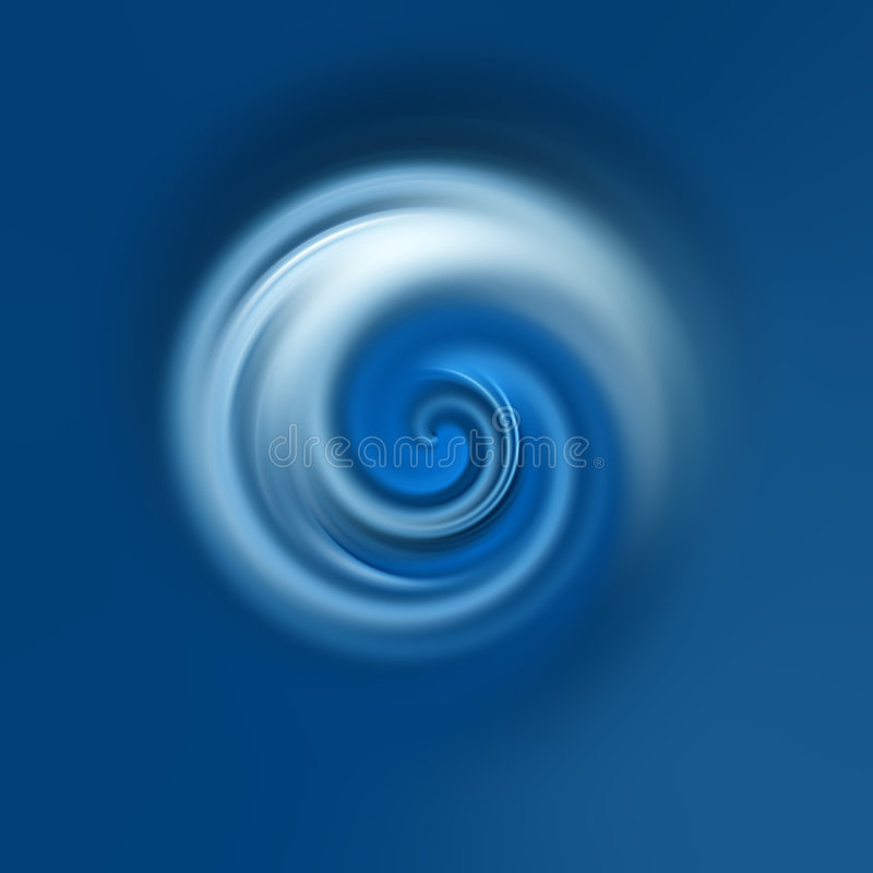 Círculo azul fotografia de stock
