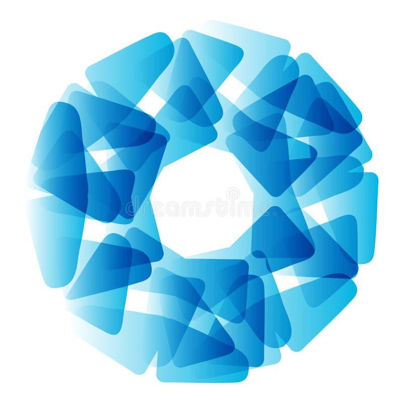 Círculo azul abstracto del vector Bandera, aviador o plantilla del diseño del logotipo stock de ilustración
