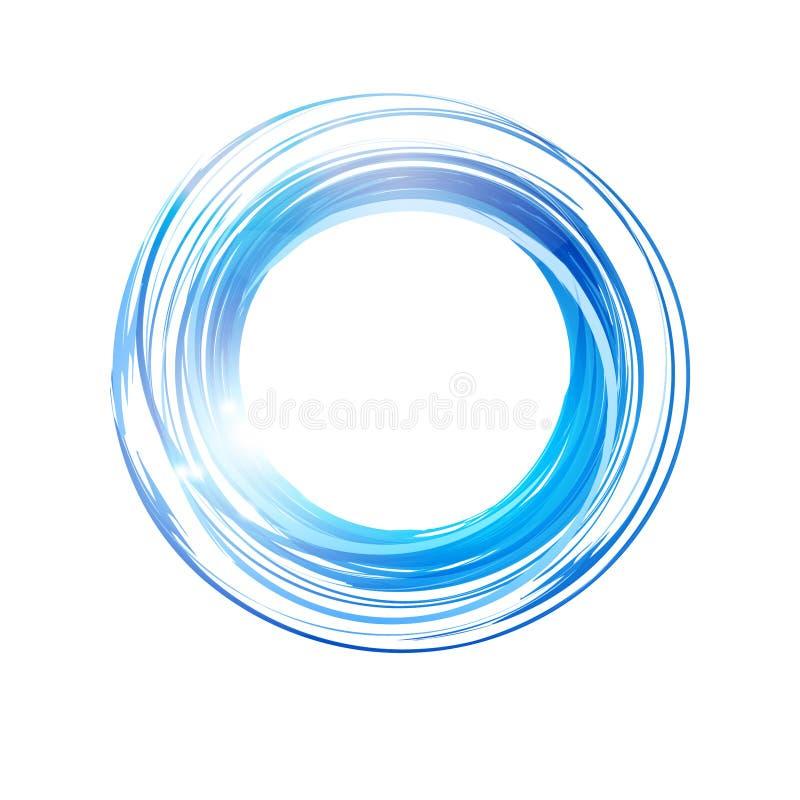 Círculo azul abstracto del vector Bandera, plantilla del diseño del logotipo libre illustration