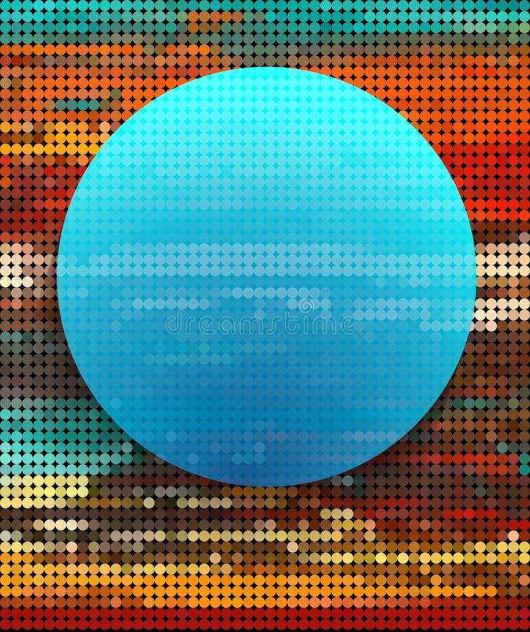 Círculo azul abstracto en fondo colorido del punto stock de ilustración