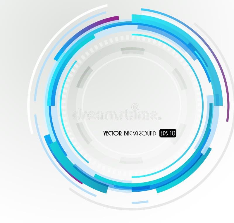 Círculo azul futurista abstrato. ilustração stock