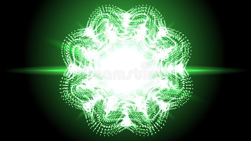 Círculo brilhante da poeira de estrelas Ilustração de brilho mágica Faíscas e estrelas brilhantes no fundo escuro Vetor ilustração do vetor