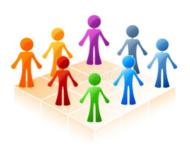 Círculo coloreado de la gente stock de ilustración