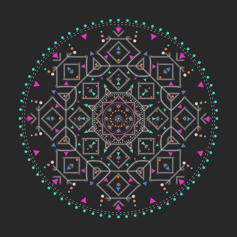 Círculo coloreado del inconformista de moda, símbolo filosófico brillante, elementos circulares que son religiosos, libre illustration