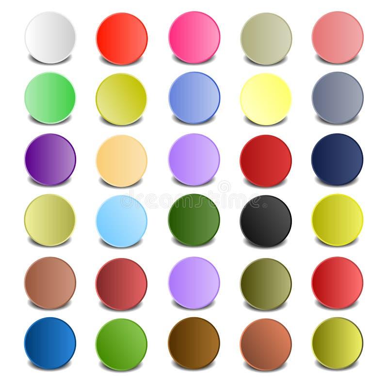 Círculo colorido con las sombras libre illustration