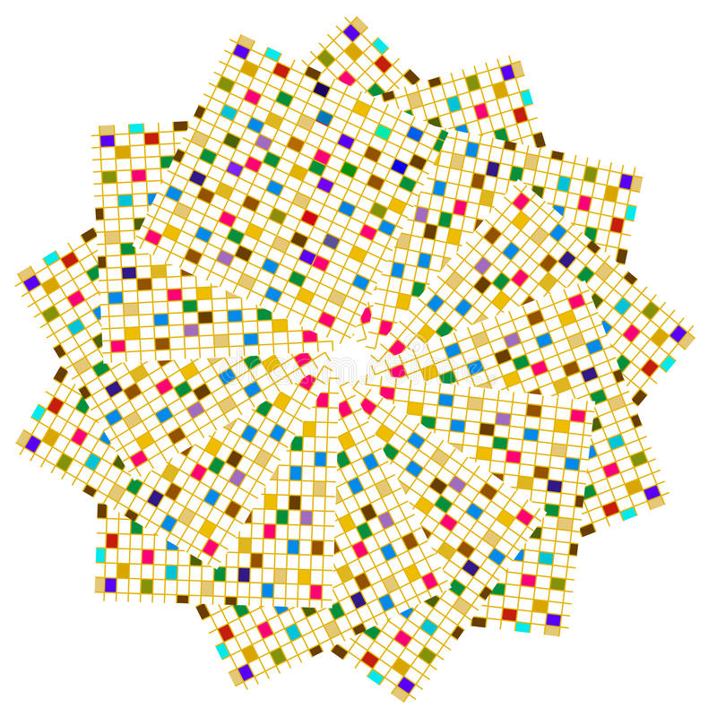 Círculo colorido de los cuadrados stock de ilustración