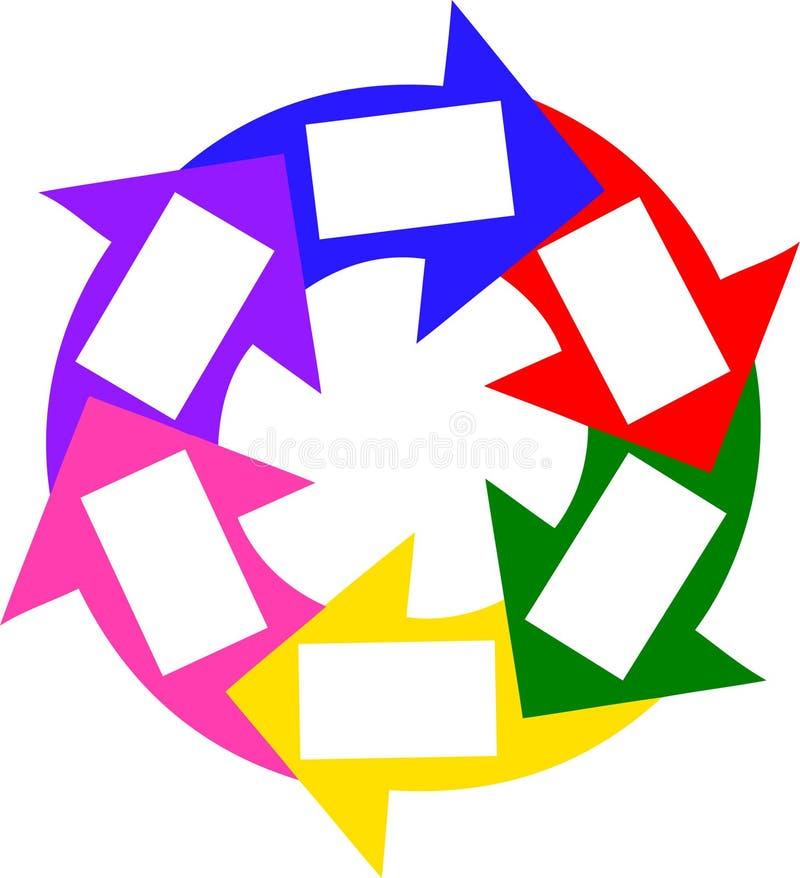 Círculo colorido del éxito libre illustration