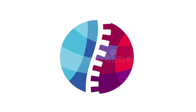 Círculo colorido Logo Design Illustration de la quiropráctica libre illustration