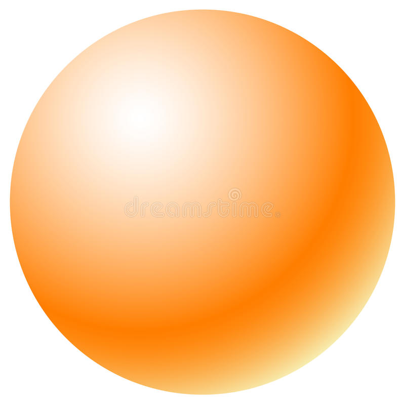 Círculo con el terraplén radial de la pendiente Esfera brillante del uno-color stock de ilustración