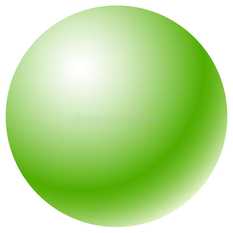 Círculo con el terraplén radial de la pendiente Esfera brillante del uno-color ilustración del vector