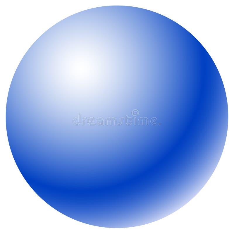 Círculo con el terraplén radial de la pendiente Esfera/circ brillantes del uno-color stock de ilustración