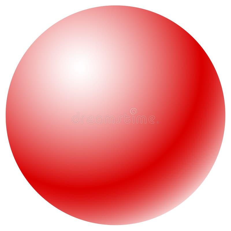 Círculo con el terraplén radial de la pendiente Esfera/circ brillantes del uno-color libre illustration