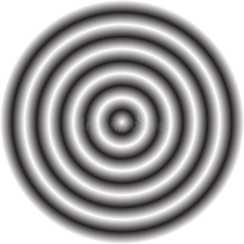 Círculo con el terraplén radial sombreado de la pendiente Circ borroso, defocused libre illustration
