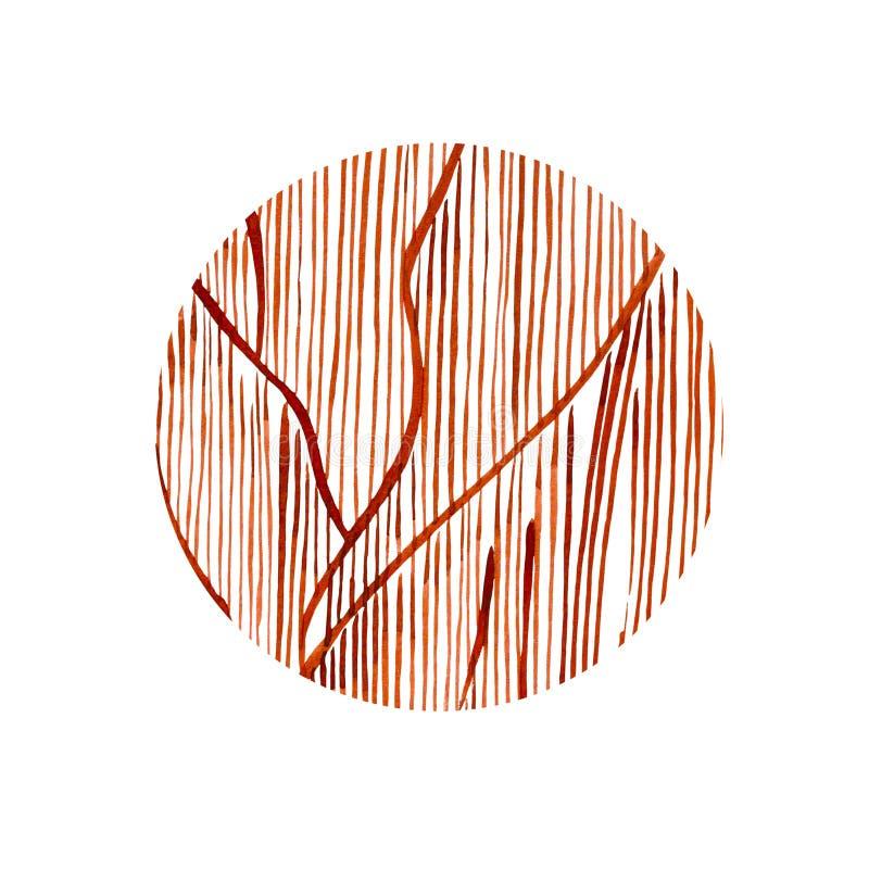 Círculo coralino gráfico Arte del tatuaje o diseño de la camiseta aislado en el fondo blanco libre illustration