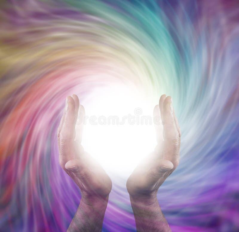 Círculo curativo de la luz imágenes de archivo libres de regalías