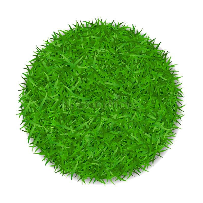 Círculo 3D de la hierba E r stock de ilustración