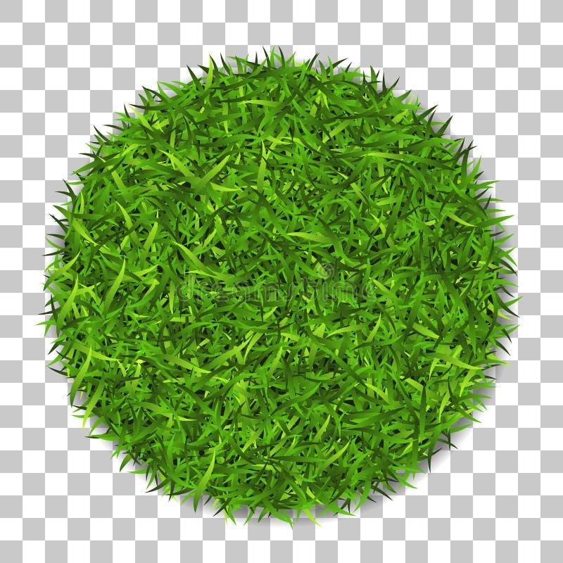 Círculo 3D de la hierba Planta verde, campo redondo herboso, fondo transparente blanco aislado Símbolo de la esfera del globo, fr libre illustration