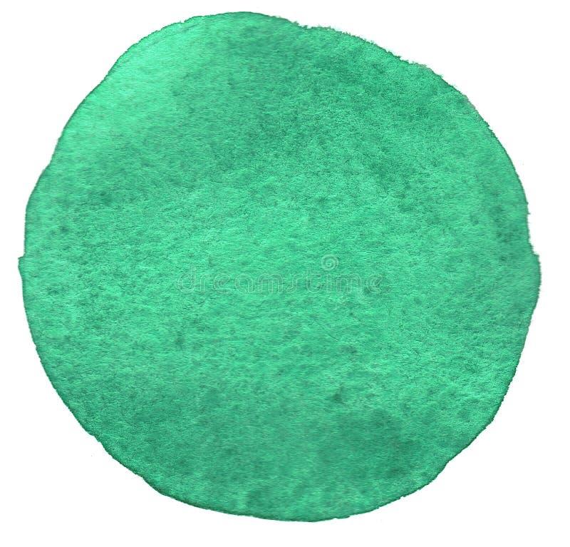 Círculo da aquarela imagem de stock