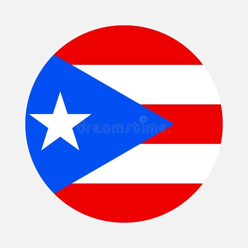 Círculo da bandeira de Porto Rico ilustração stock