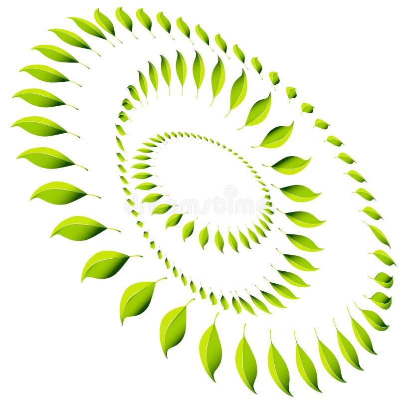 Círculo da folha da energia ilustração stock