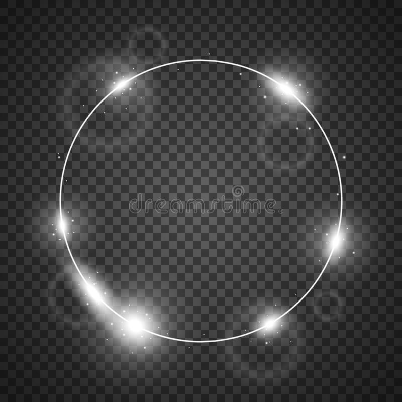 Círculo da luz, cor branca ilustração do vetor