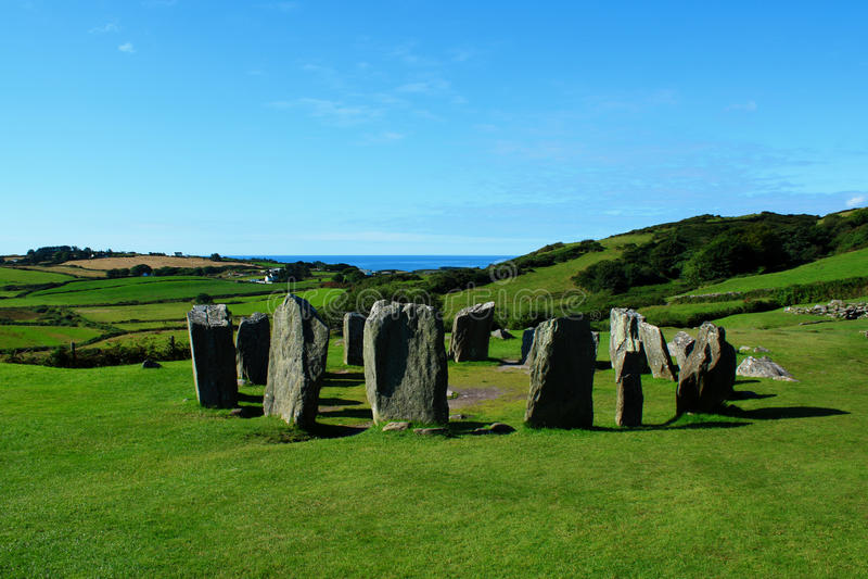 Círculo da pedra de Drombeg, cortiça do condado, Irlanda imagem de stock royalty free
