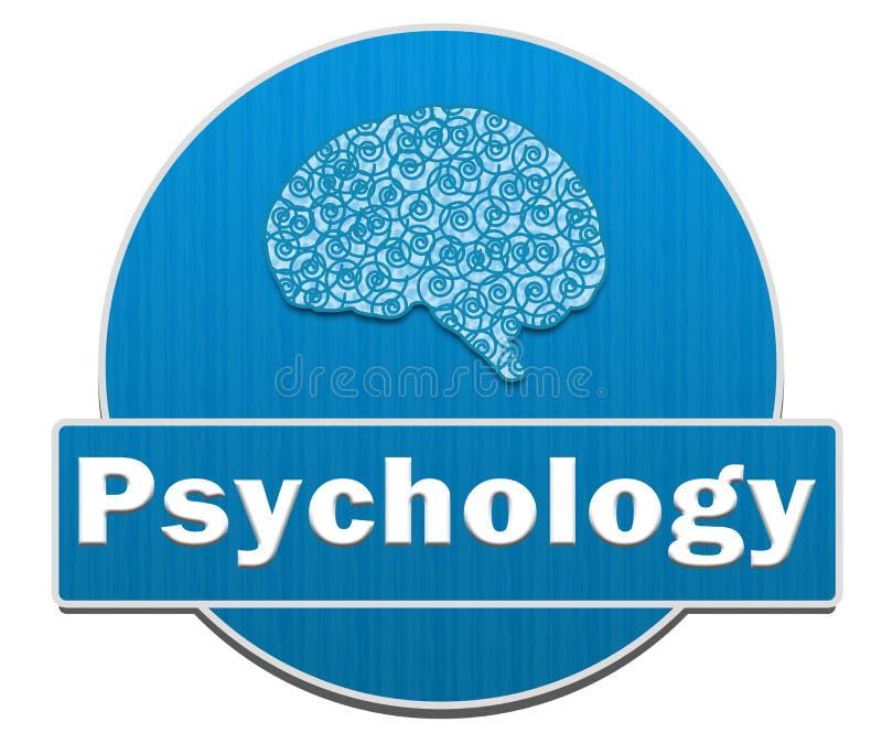 Círculo da psicologia ilustração stock