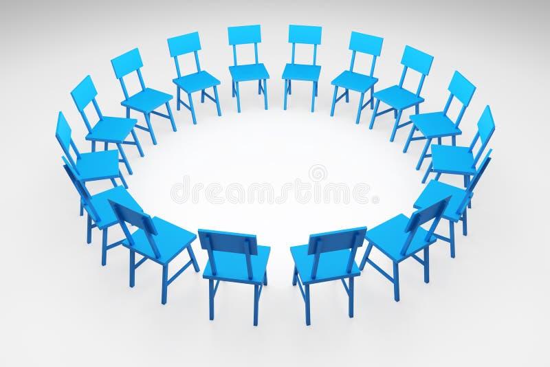 Círculo das cadeiras ilustração royalty free