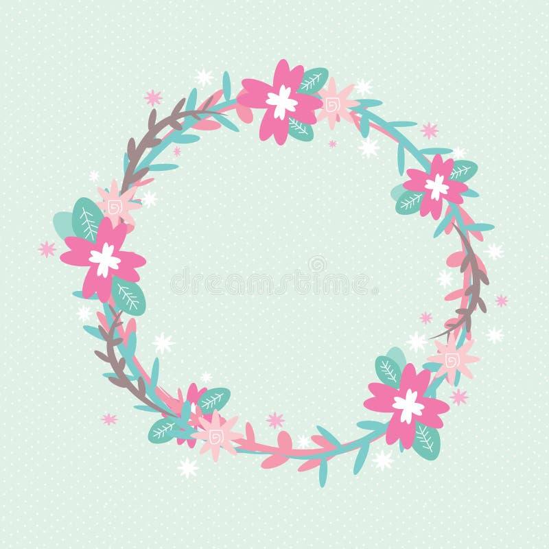 Círculo das flores fotografia de stock