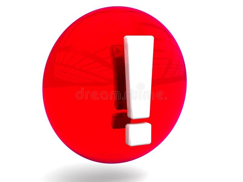 Círculo de advertência ilustração stock