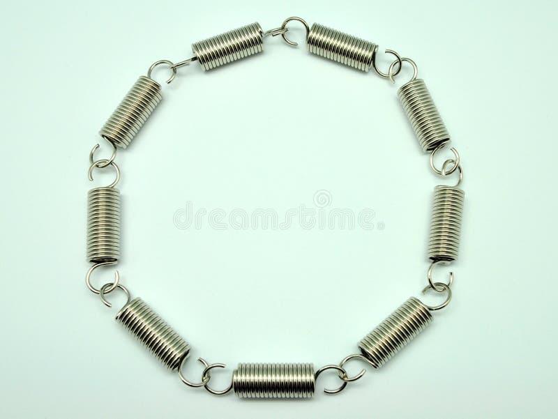 Círculo de bobinas da mola fotografia de stock royalty free