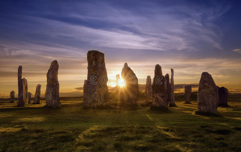 Círculo de Callanish fotografia de stock royalty free