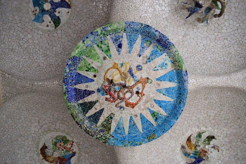 Círculo de cor de Gaudi imagens de stock