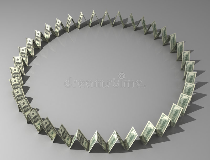 Círculo de dólares libre illustration