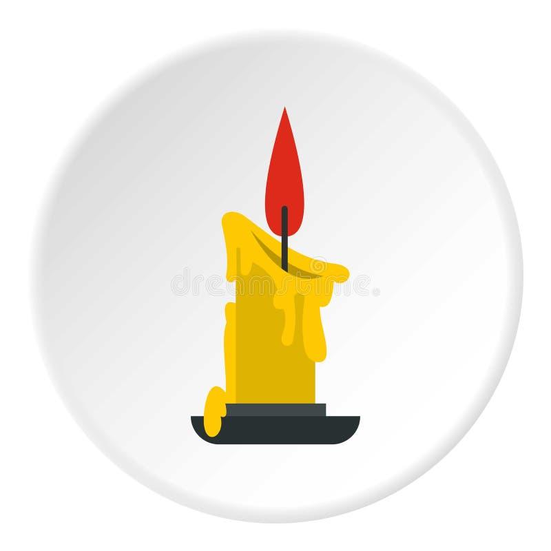 Círculo de derretimento do ícone da vela ilustração royalty free