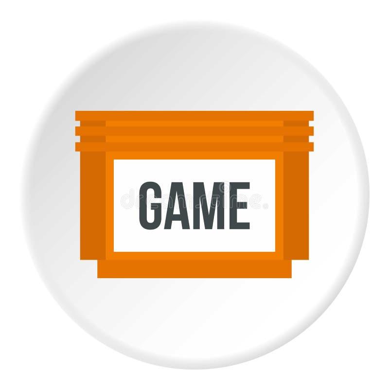 Círculo de disco flexível do ícone dos jogos ilustração stock