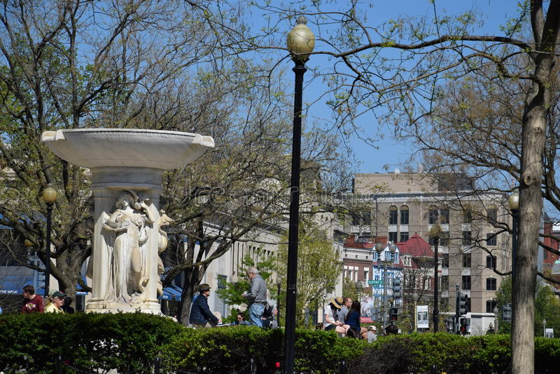 Círculo de Du Pont en Washington DC imagen de archivo