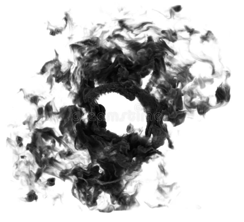 Círculo de humo fotografía de archivo libre de regalías