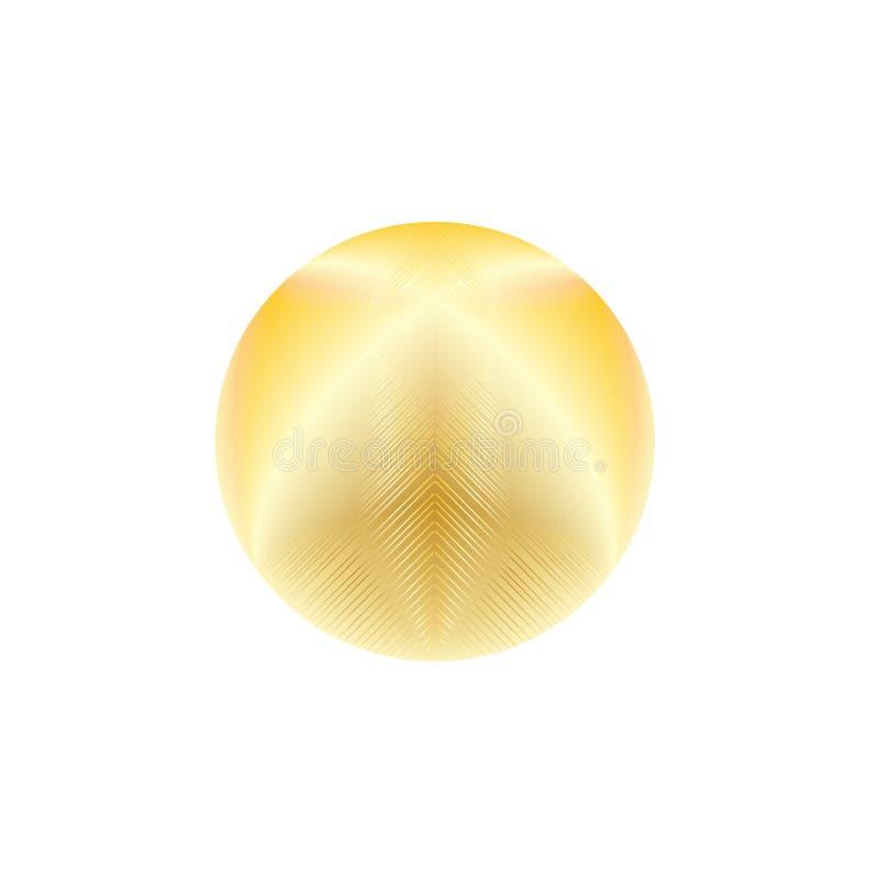 Círculo de incandescência do ouro ilustração stock