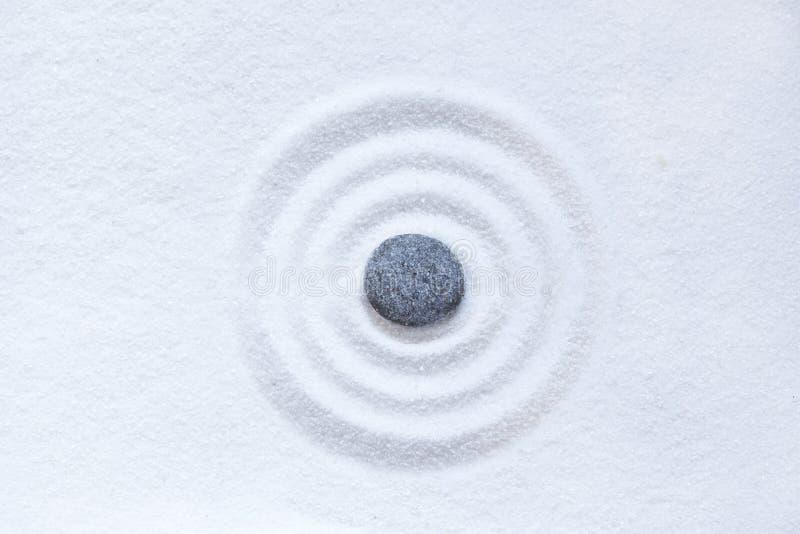 Círculo de la arena del zen fotos de archivo libres de regalías